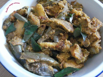 In Kitchen - Brinjal masala Curry